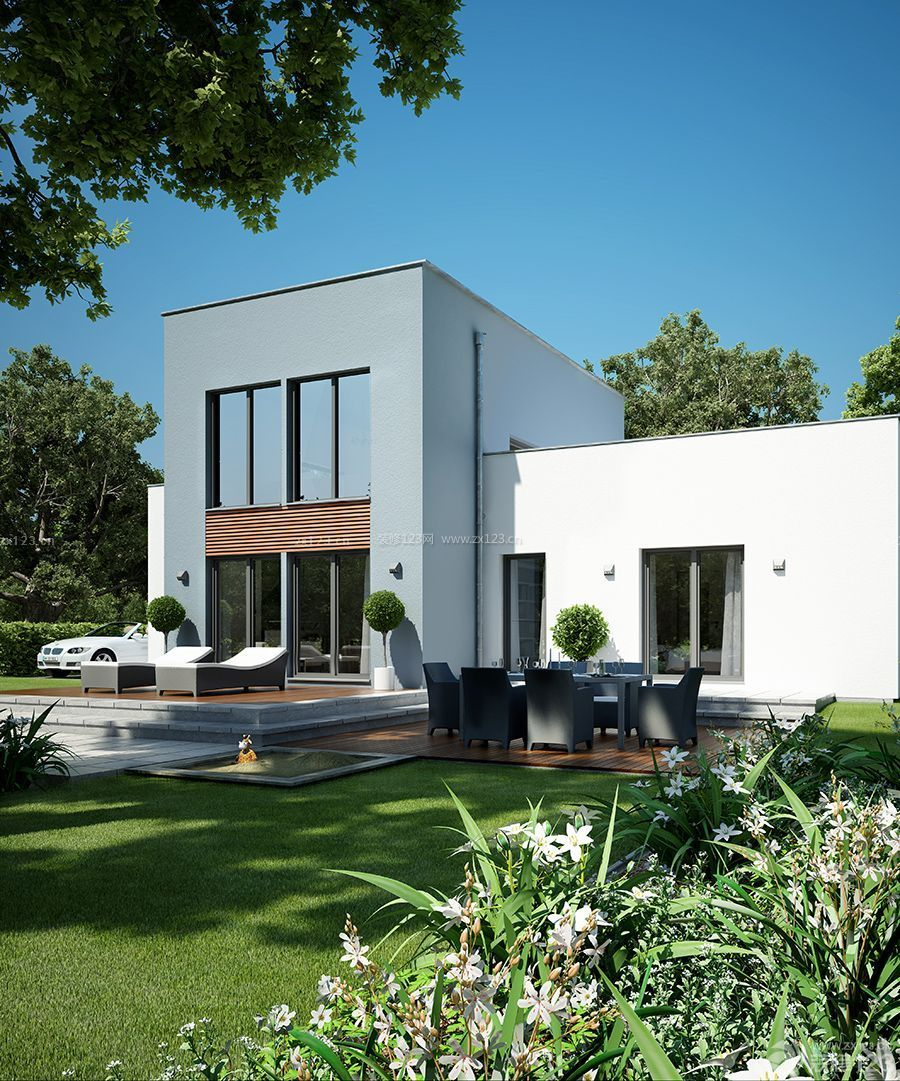 现代小型别墅外观设计图