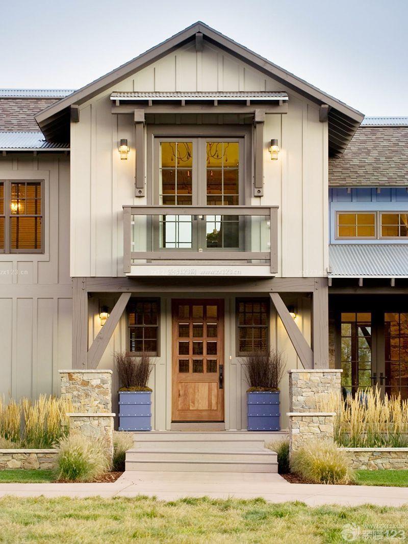 农村别墅外观效果图二层半50一60万带车库.旋转楼梯图片
