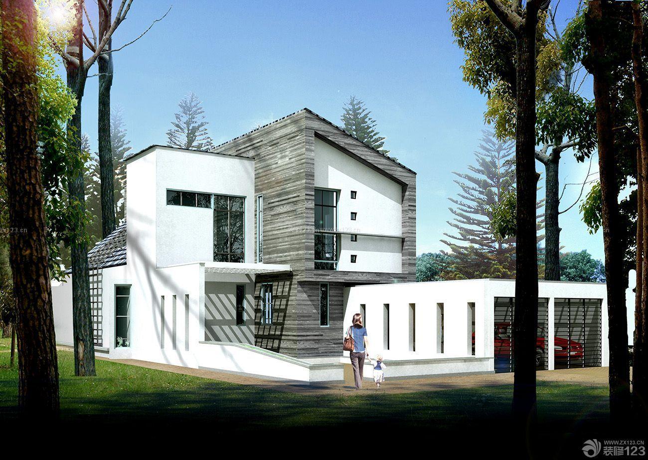 农村独栋小型别墅外观设计图