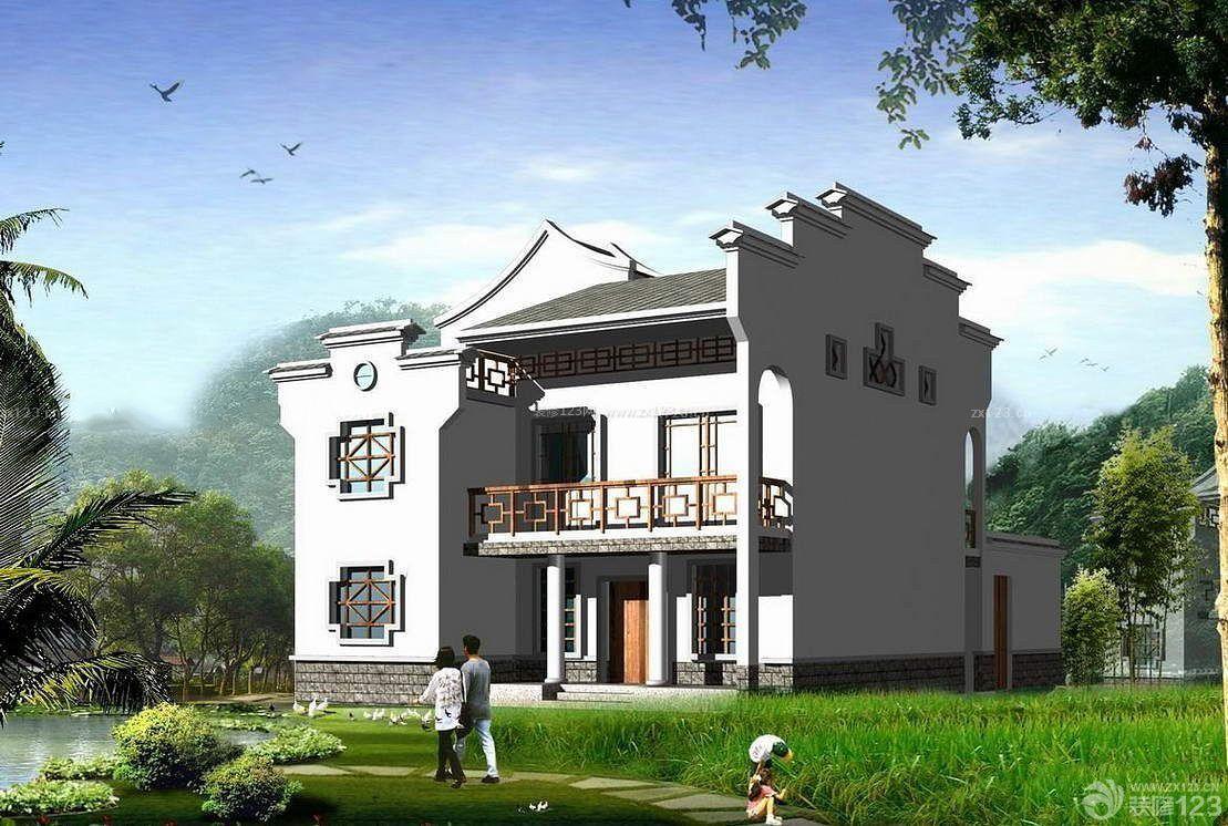 中式别墅装修风格小型别墅外观设计图
