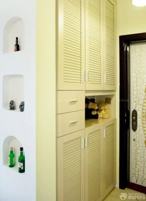 入墙鞋柜装修效果图 进门鞋柜效果图