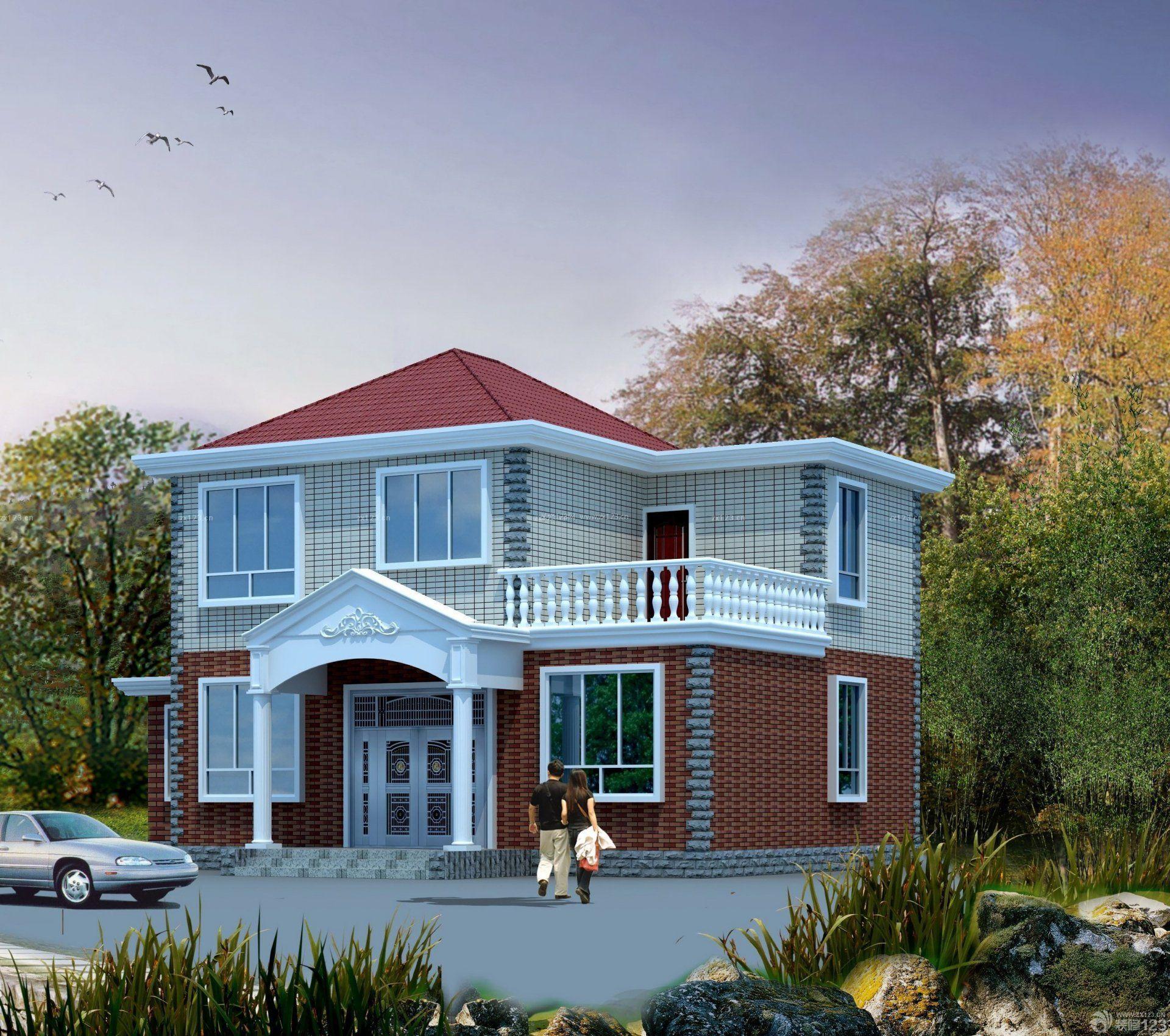 design 农村别墅设计图图片  农村平顶房子图片欣赏-农村15万元二层
