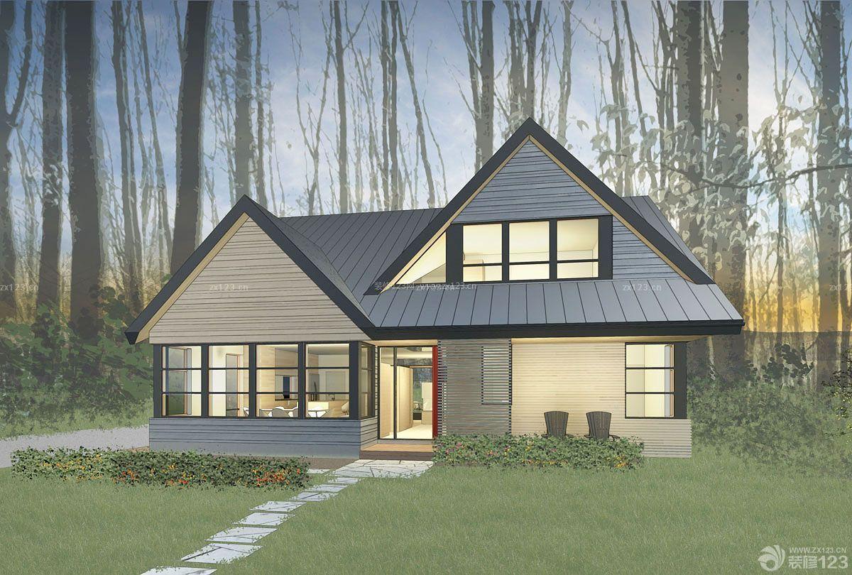 木屋家庭别墅外观设计效果图