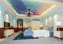 高端別墅臥室吊頂裝飾設計效果圖