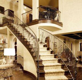 高端別墅別墅樓梯設計圖-每日推薦