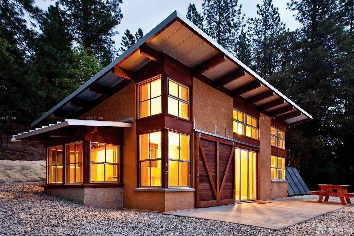 独栋别墅外观红砖墙设计装修效果图片