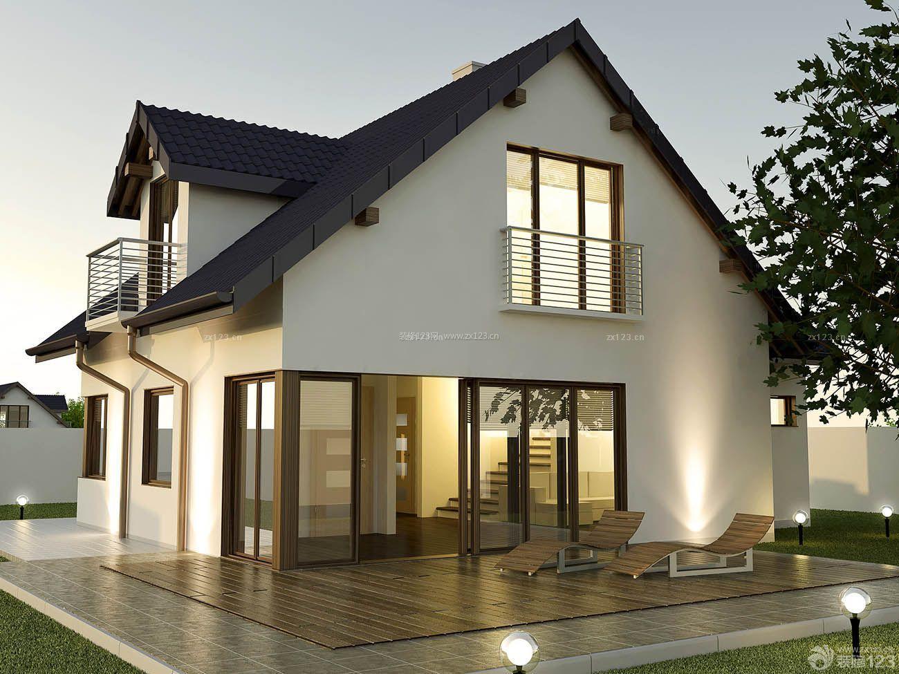 现代中式风格独栋别墅外观设计图片图片
