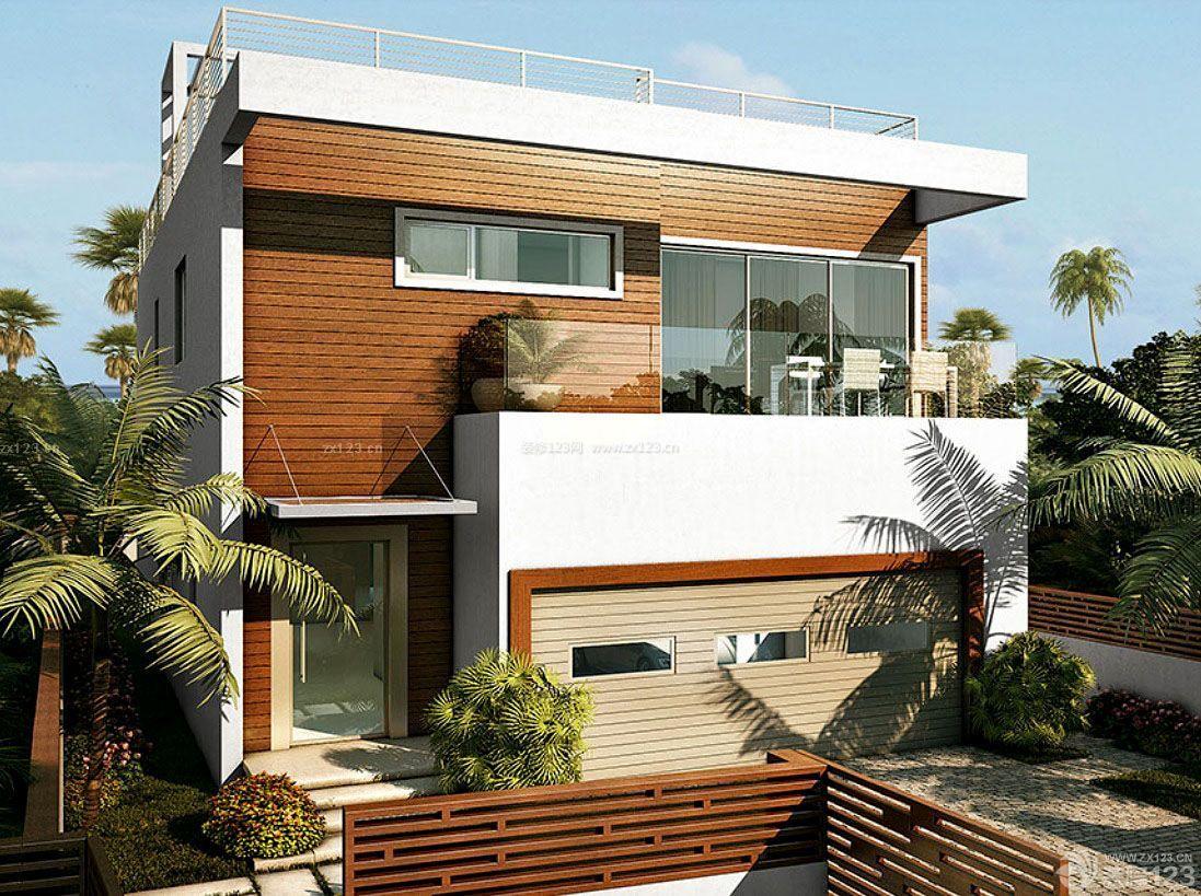 独栋木结构房屋别墅设计图片_装修123效果图