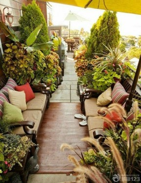 露臺綠化 屋頂花園設計圖