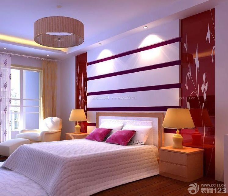 90后婚房设计卧室床头背景墙装修效果图片图片