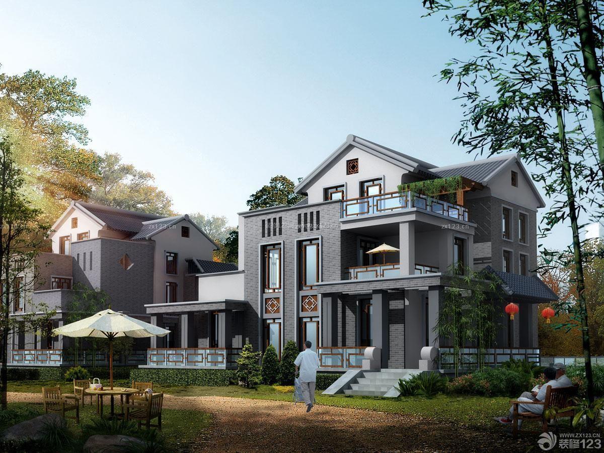最新中式农村联排别墅外观图片大全