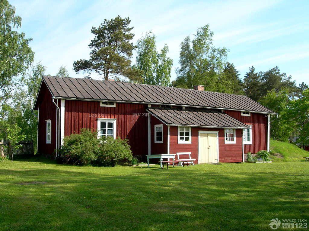 农村木屋美式别墅外观装修图片