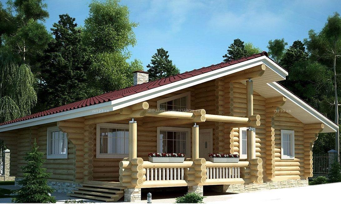 农村自建木屋别墅外观设计效果图