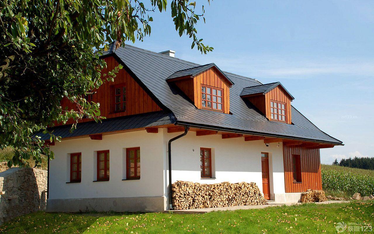 农村小木屋别墅外观图片