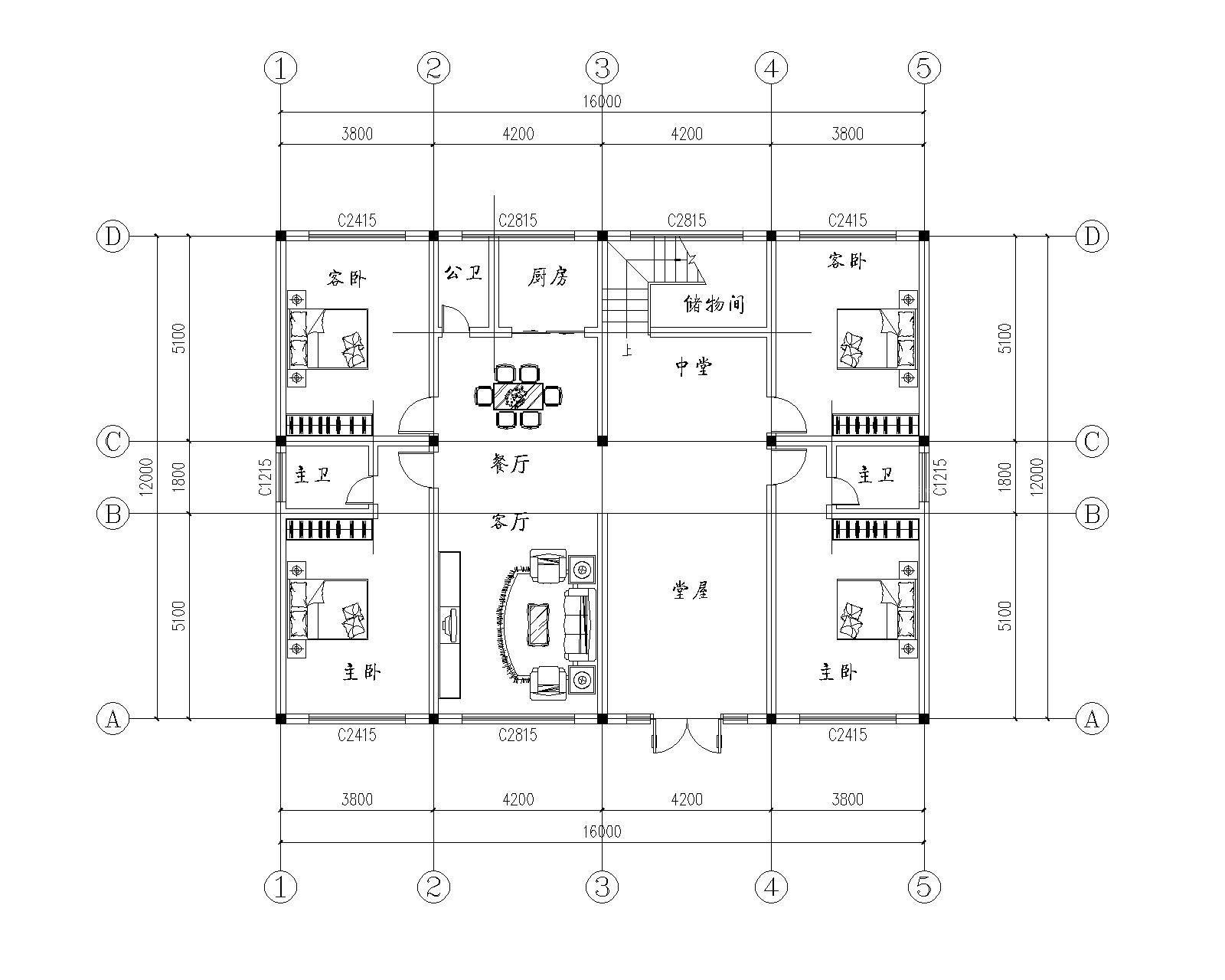 小型农村别墅平面设计图大全