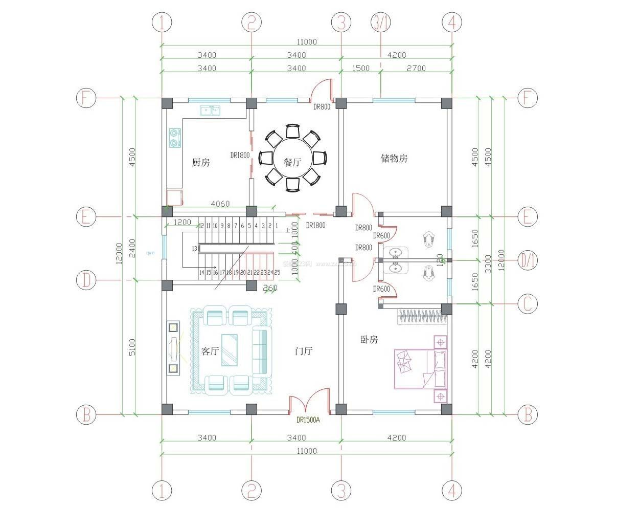 2015农村别墅平面设计图