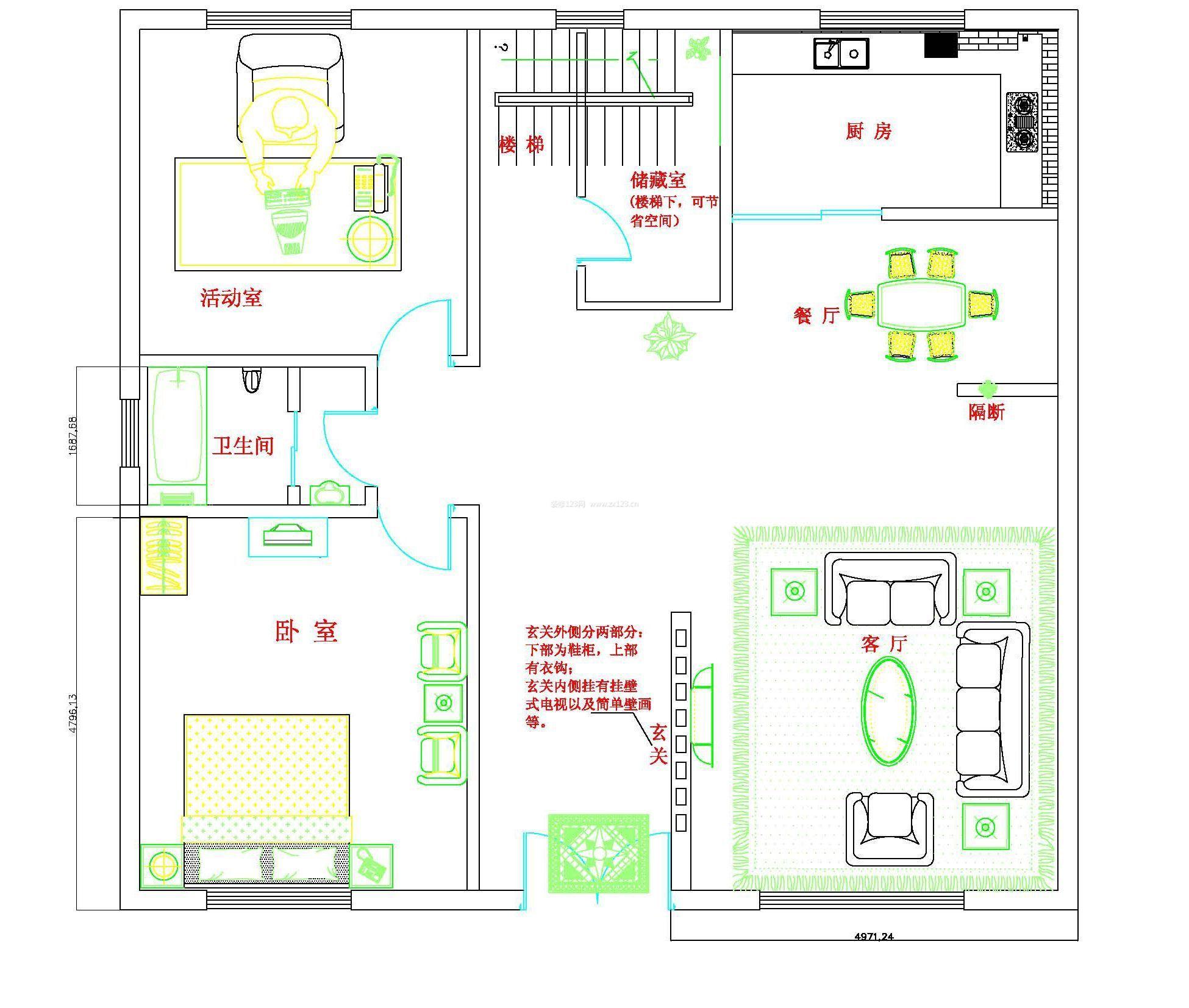 小型农村别墅平面设计图大全图片