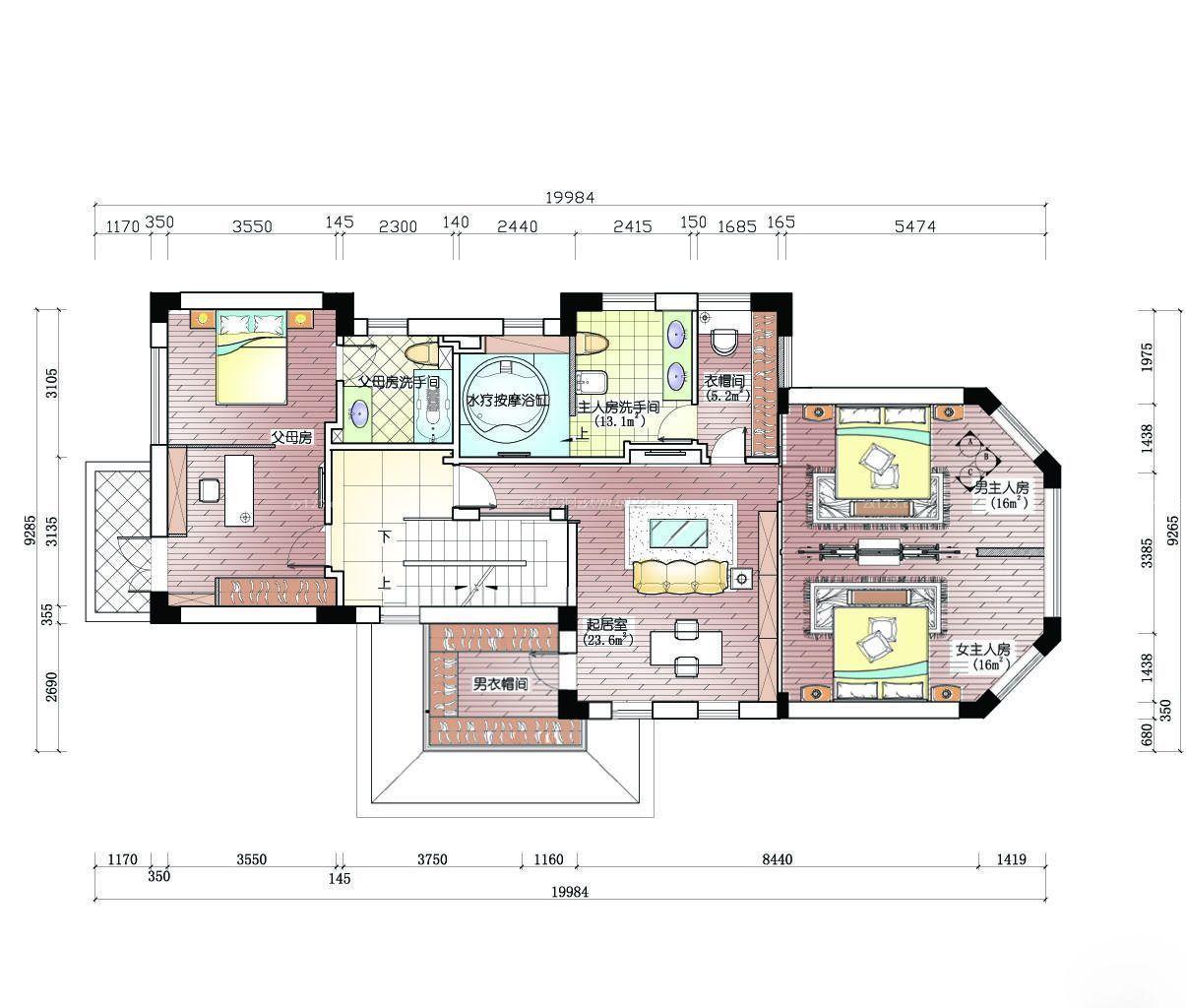 家装效果图 别墅 高档小型农村别墅平面设计图 提供者: ← → 可以-