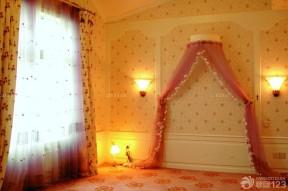 臥室背景墻圖片大全 復古碎花壁紙圖片