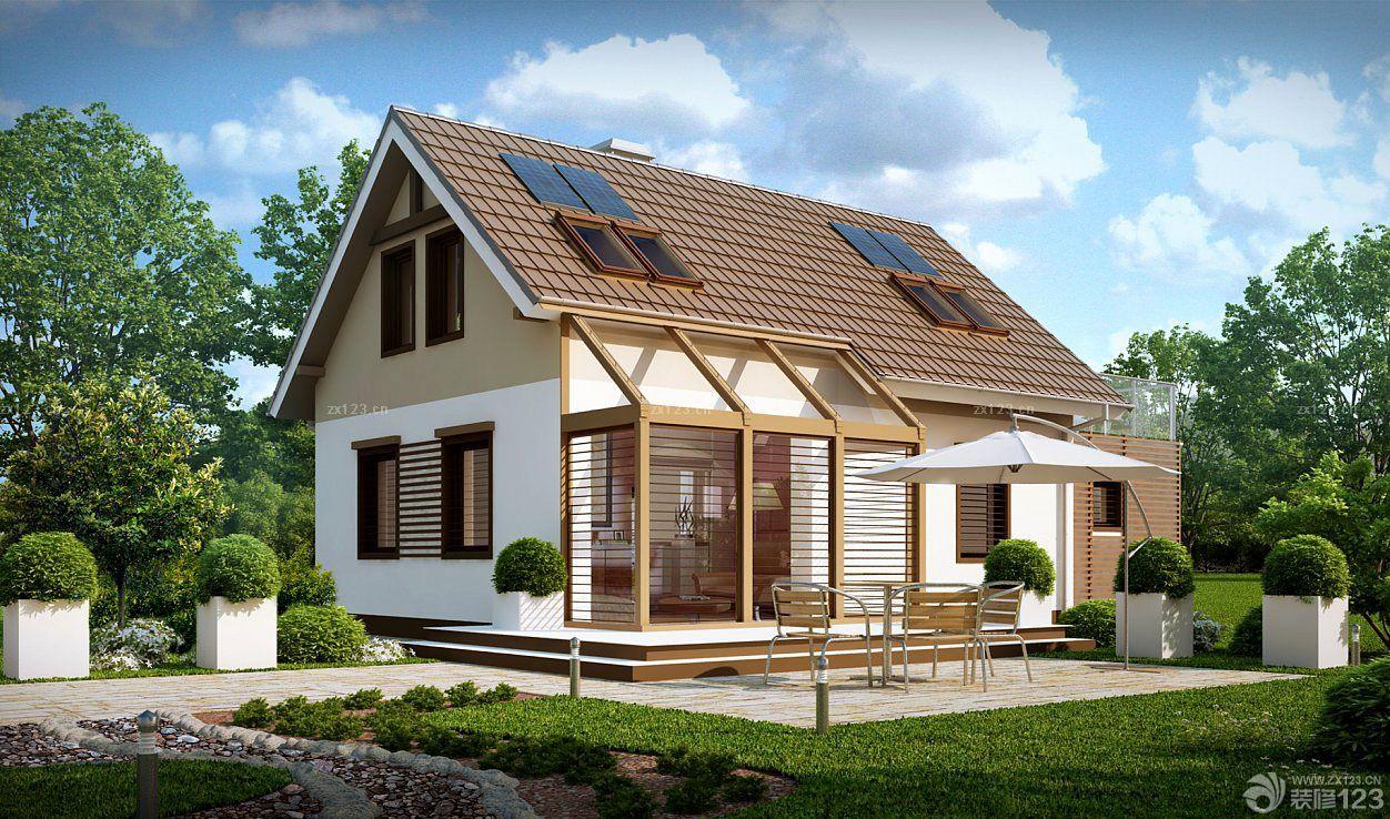 美式农村简易别墅天窗装修效果图片