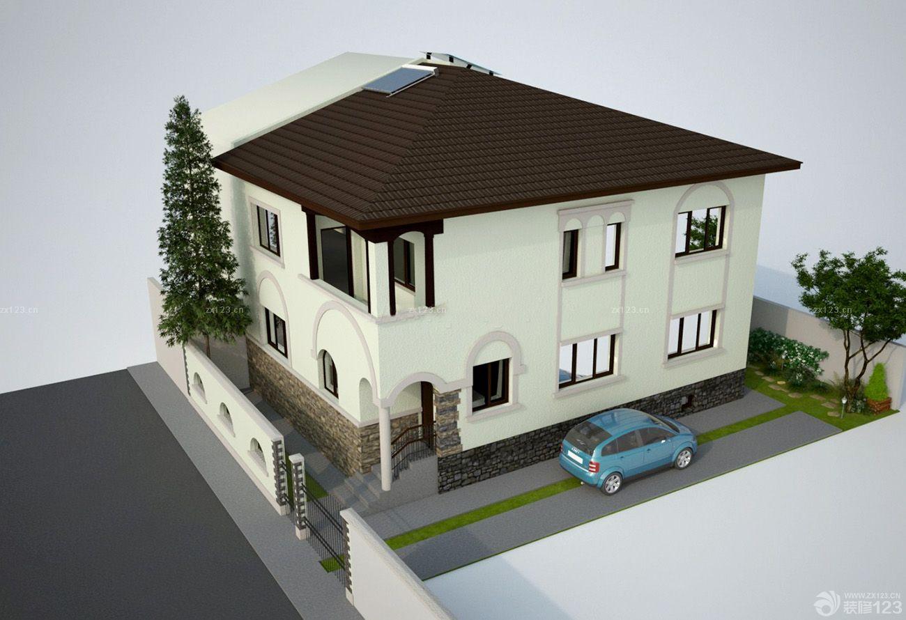 农村小型别墅仿古门窗设计图片