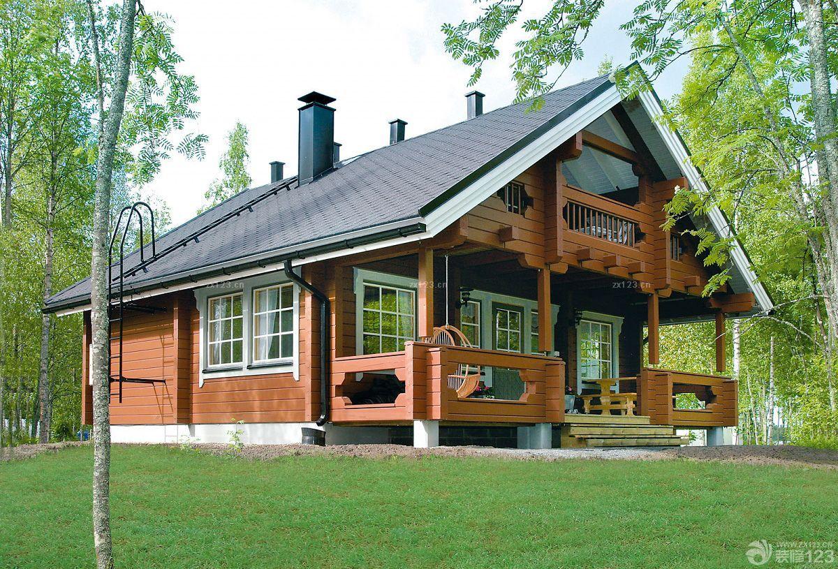 农村木结构别墅一层半设计图片