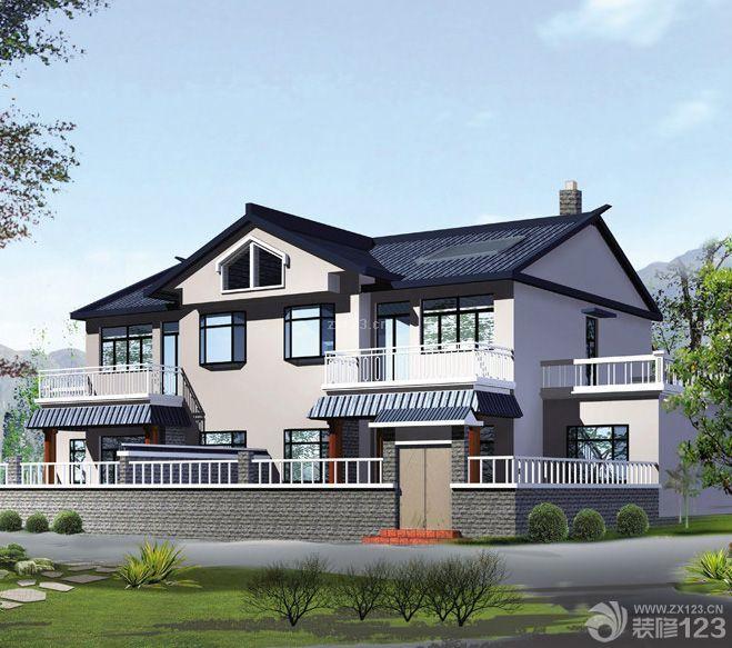 320平米农村2层别墅外观设计图