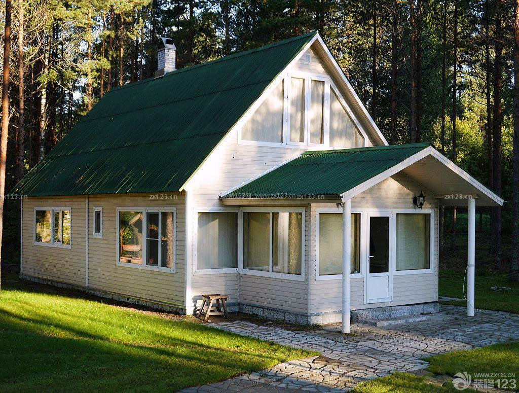 农村简易别墅屋顶设计装修图片_装修123效果图