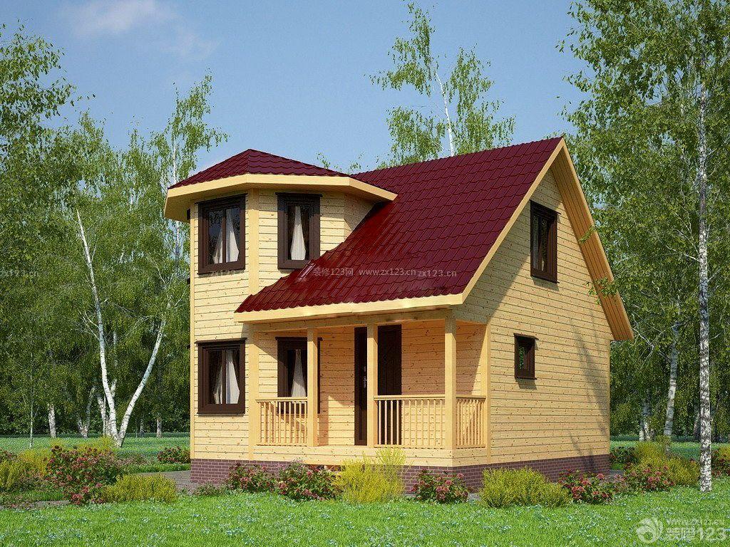 农村别墅一层半小木屋图片