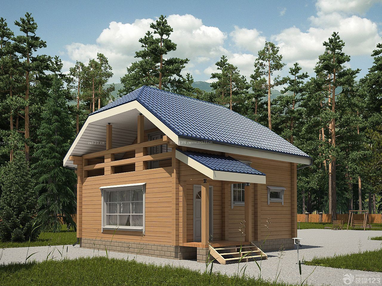 农村简易别墅室外设计图片