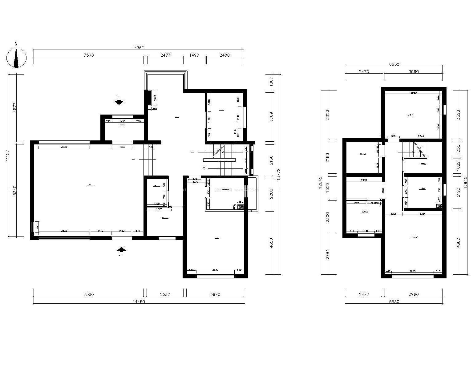 2015农村两层别墅设计平面图