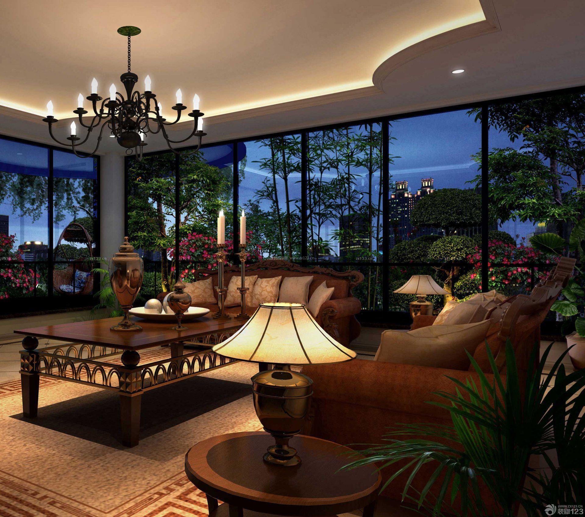 美式风格设计高级别墅室内装修图片