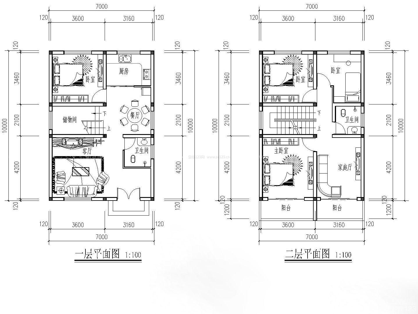 8x13.5别墅图片大全|别墅设计图纸下载
