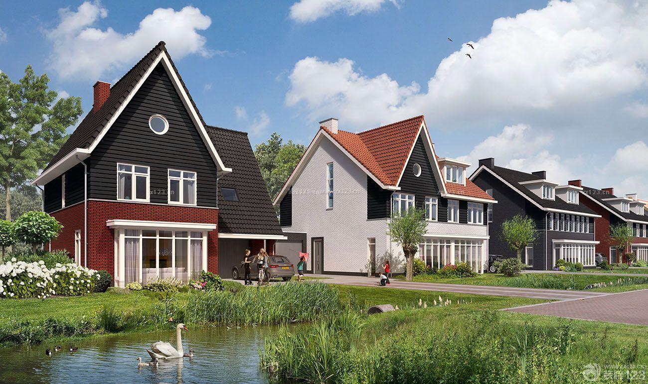 农村联排简易别墅外观装修效果图片