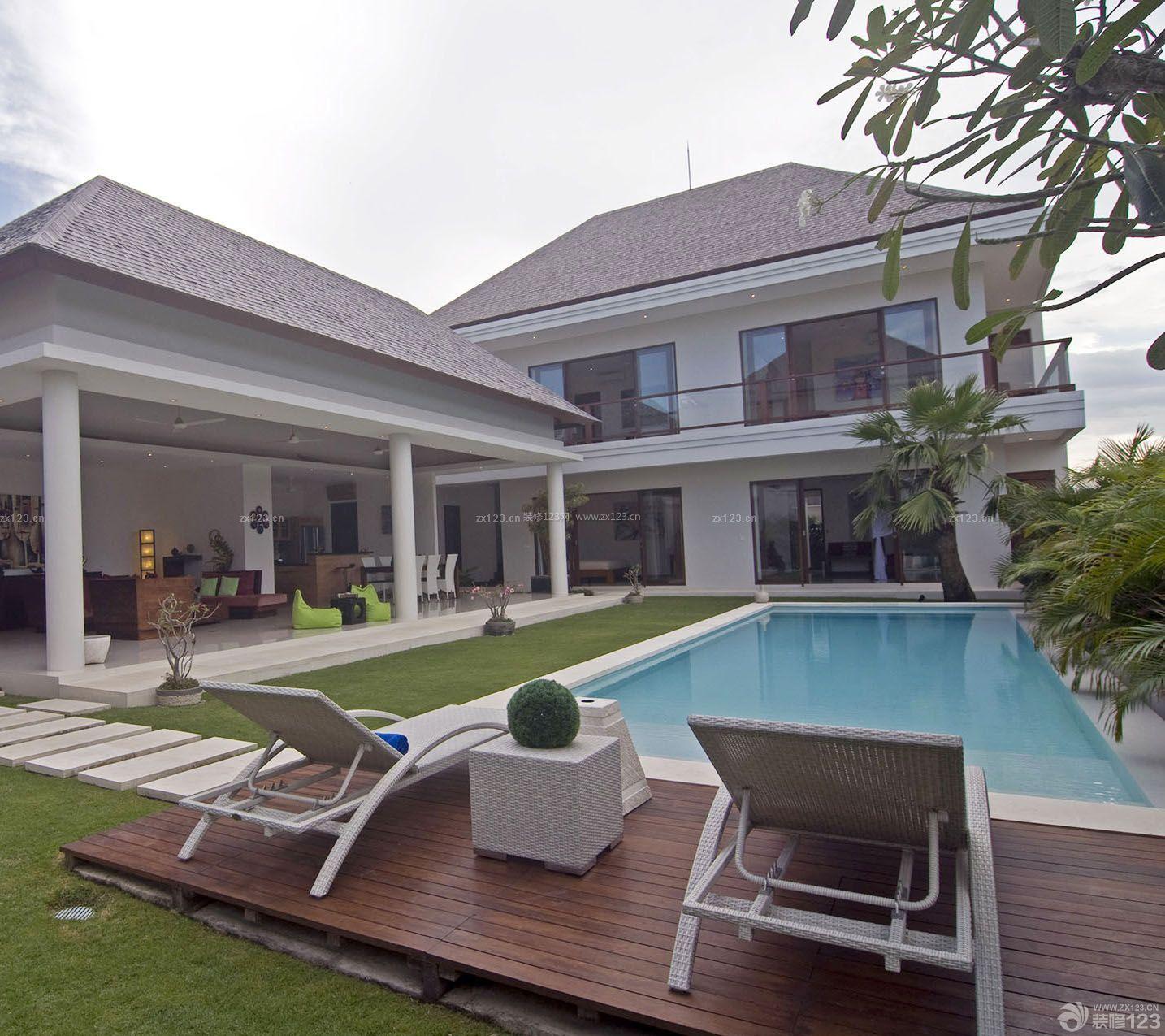 高级别墅游泳池设计装修效果图片