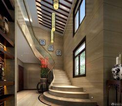高檔兩層別墅室內樓梯設計圖片大全