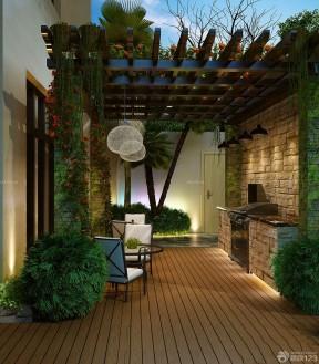 小别墅庭院设计效果图 室内入户花园装修图