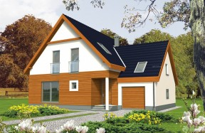 農村別墅一層半 木屋別墅建造