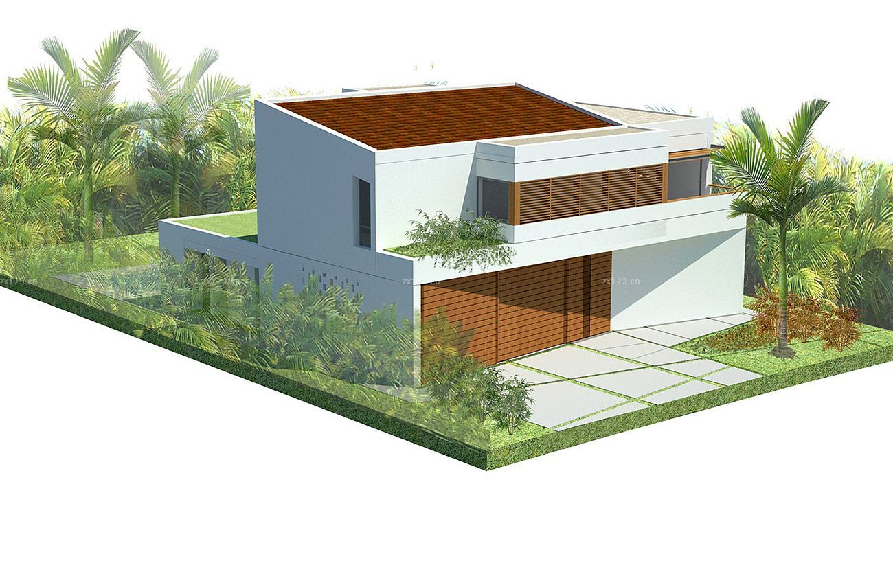 自建欧式别墅外观装潢设计图纸