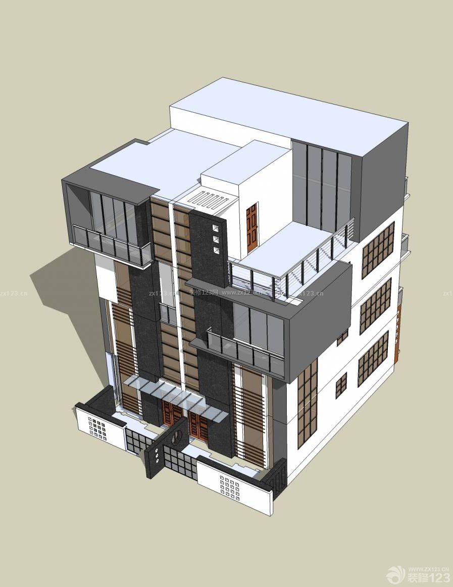现代美式自建双拼别墅楼房装修图纸