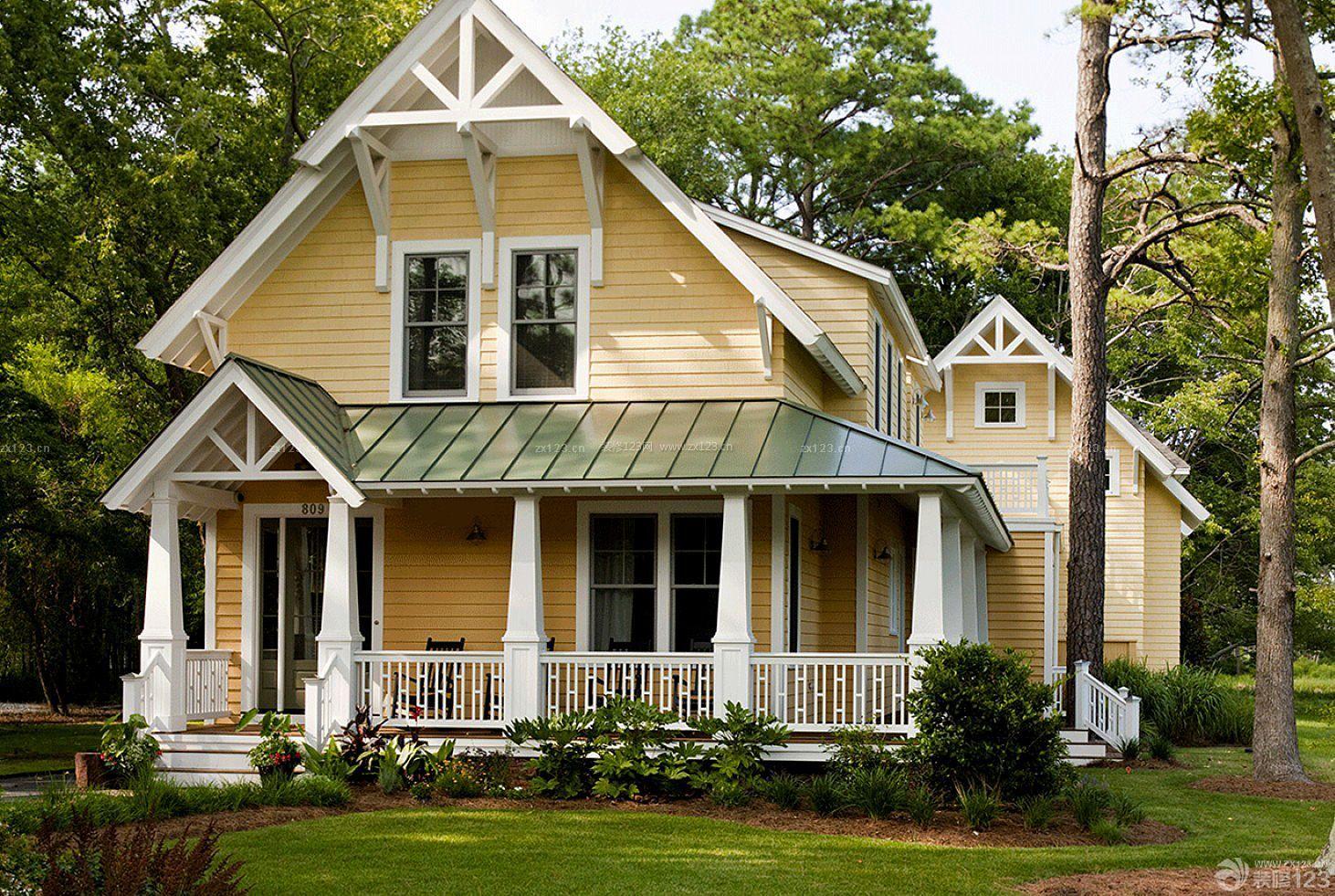 独立木结构别墅房屋造型设计图片_装修123效果图