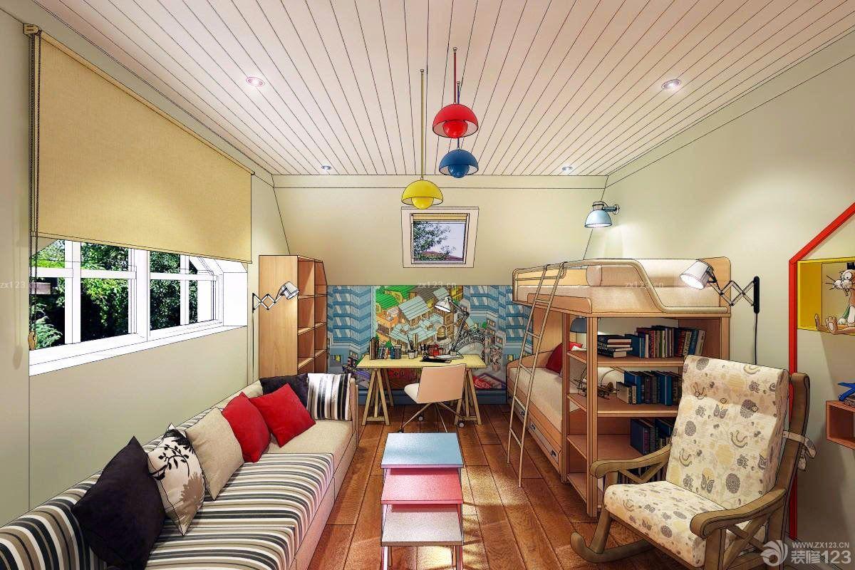 可爱别墅儿童卧室设计图纸及效果图