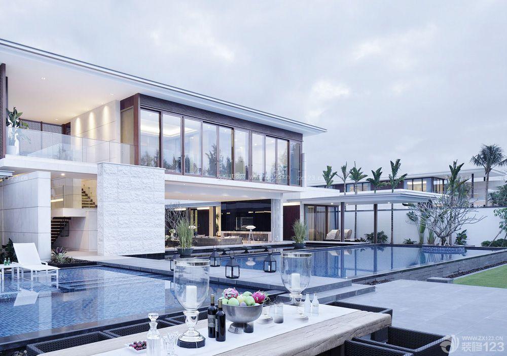 别墅游泳池设计装修效果图片大全外景