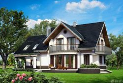 乡村别墅屋顶琉璃瓦设计效果图图片