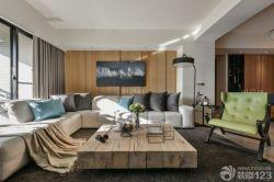 簡約現代風格客廳沙發背景墻裝修樣板房
