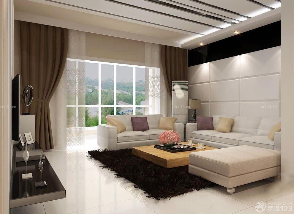 长方形客厅吸顶灯装修效果图