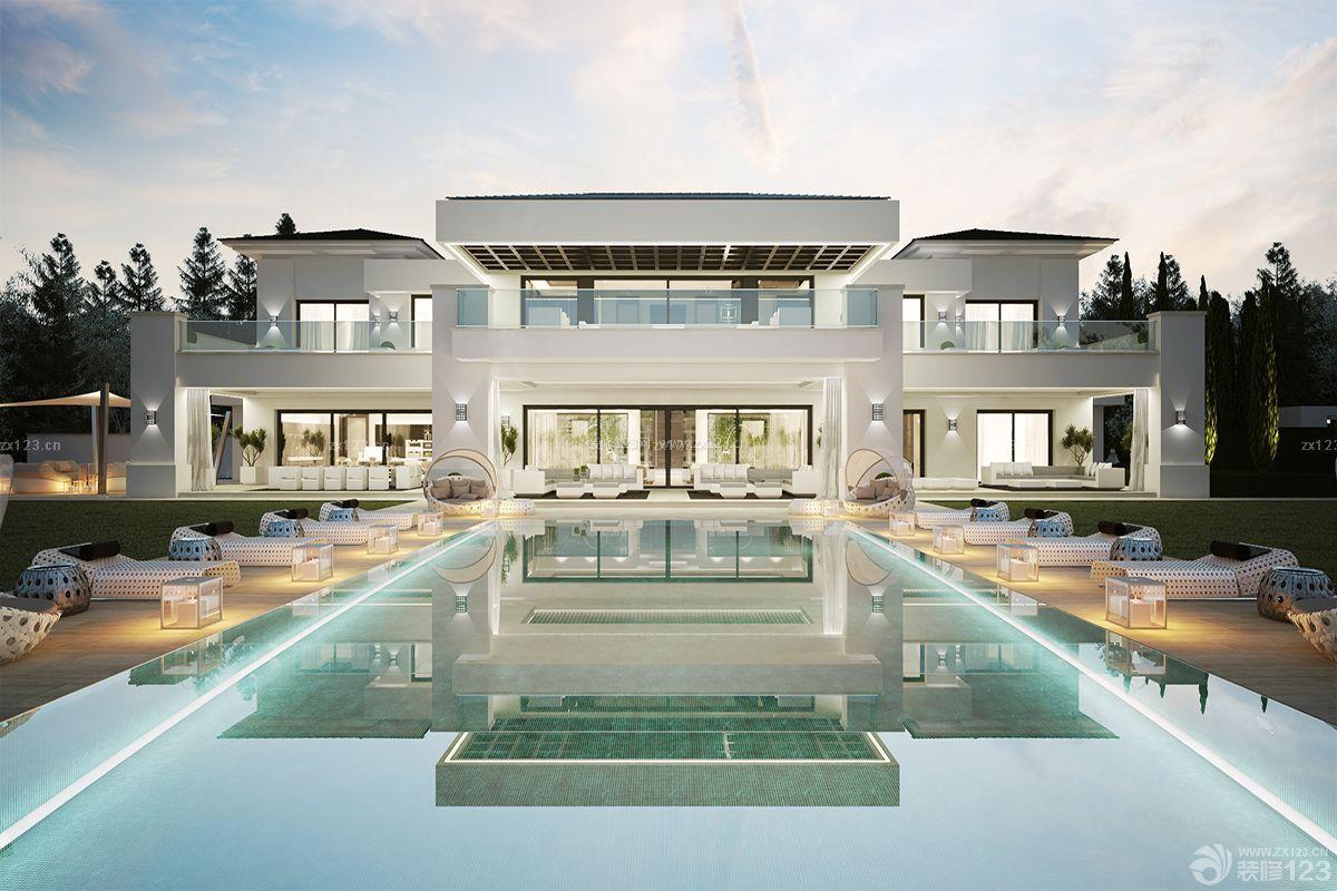 著名别墅庭院游泳池设计