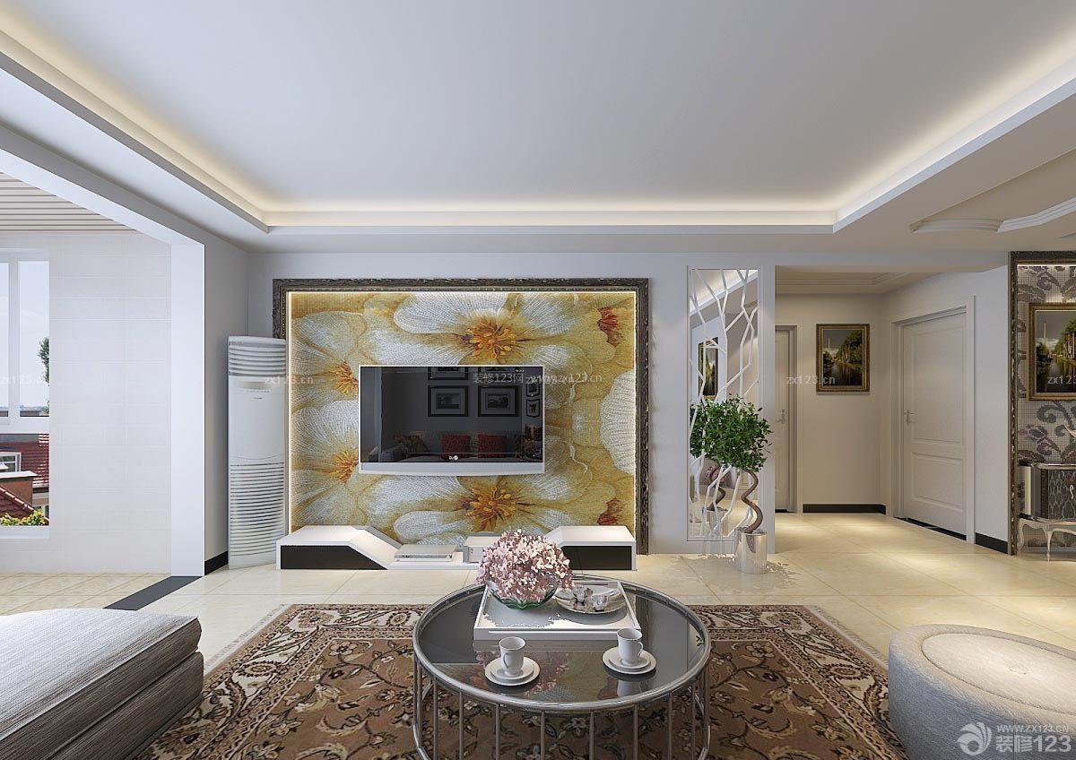 欧式风格别墅3d电视背景墙装修大全图片