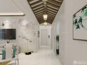 客廳過道裝修效果圖 木質吊頂裝修效果圖片