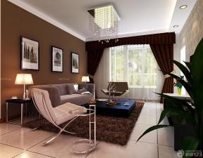 140平米三室兩廳兩衛裝修 咖啡色墻面裝修效果圖片